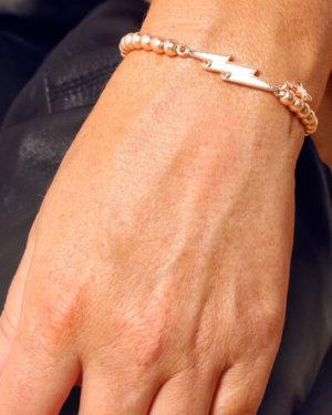 Kate Thornton Rose Gold Lightning Bolt Friendship Bracelet