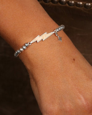 Kate Thornton Silver Lightning Bolt Friendship Bracelet