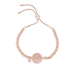 Kate Thornton Rose Gold Sunray Friendship Bracelet with Be Kind Affirmation