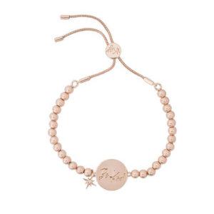 Kate Thornton Rose Gold Sunray Friendship Bracelet with Be Kind Affirmation