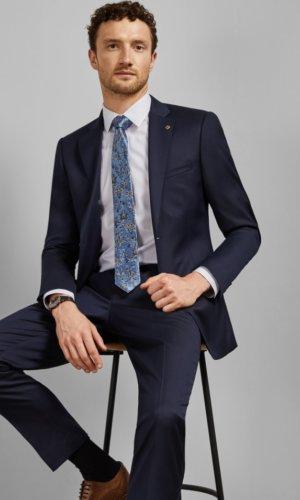 ARCINAJ Debonair plain wool suit jacket