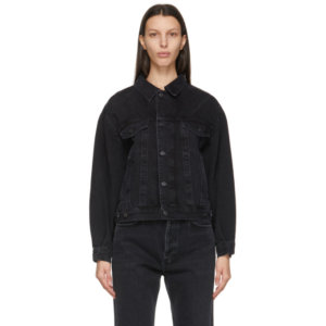 AGOLDE Black Denim Charli Jacket