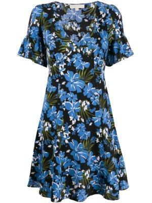 Michael Michael Kors floral mini dress - Blue