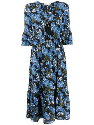 Michael Michael Kors floral print midi dress - Black