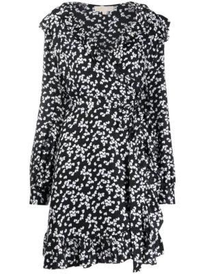 Michael Michael Kors floral print wrap dress - Black
