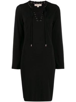 Michael Michael Kors short lace-up dress - Black