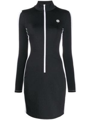 Michael Michael Kors zip-up mini dress - Black