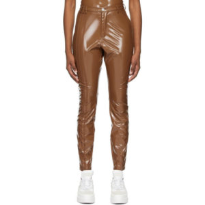 adidas x IVY PARK Brown Latex Trousers