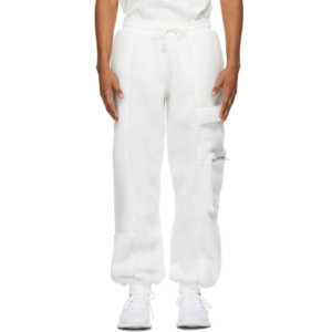 adidas x IVY PARK White Teddy Cargo Pants
