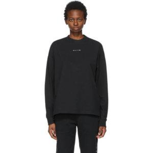 1017 ALYX 9SM Black Visual Logo Long Sleeve T-Shirt