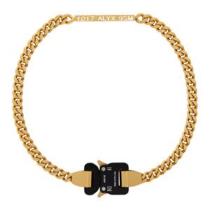 1017 ALYX 9SM Gold Buckle Necklace