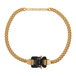 1017 ALYX 9SM Gold ID Buckle Necklace