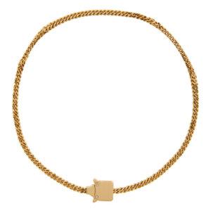 1017 ALYX 9SM Gold Mini Cubix Chain Necklace