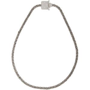 1017 ALYX 9SM Silver Cubix Mini Necklace