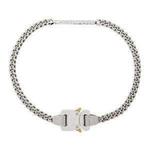 1017 ALYX 9SM Silver ID Buckle Necklace