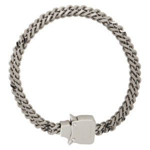 1017 ALYX 9SM Silver Mini Cubix Necklace