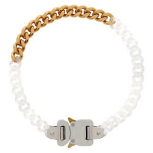 1017 ALYX 9SM Transparent and Gold Buckle Necklace