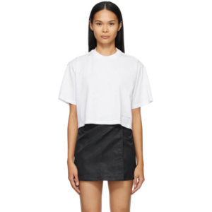 1017 ALYX 9SM White Cropped Logo T-Shirt