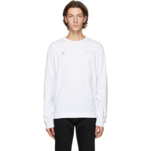 1017 ALYX 9SM White Double Logo Long Sleeve T-Shirt