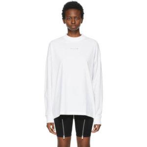 1017 ALYX 9SM White Visual Logo Long Sleeve T-Shirt