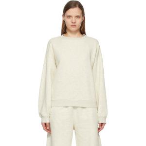 AGOLDE Off-White Nolan Drop Shoulder Sweatshirt