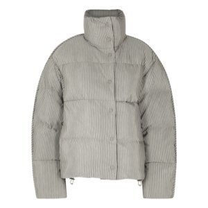 Acne Studios Orlin Striped Quilted Cotton-blend Jacket