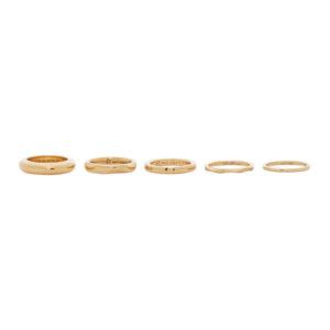 Bottega Veneta Gold Mismatched Ring Set