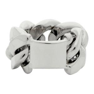 Bottega Veneta Silver Gourmet Chain Ring