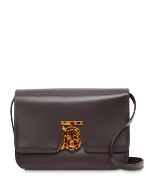 Burberry Small Leather TB Bag - Brown