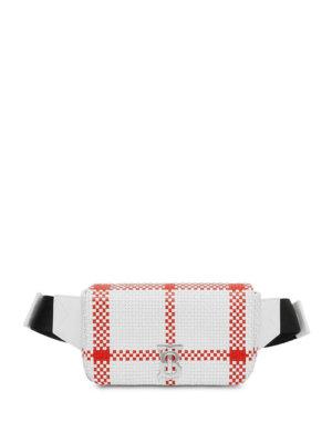 Burberry checked Lola belt bag - White