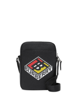 Burberry graphic logo crossbody bag - Black