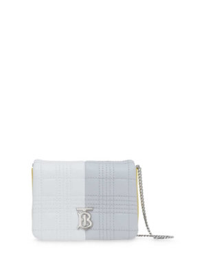 Burberry micro quilted colour-block Lola bag - GREY/WHITE/YELLOW