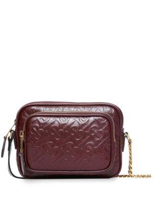 Burberry monogram leather camera bag - Red