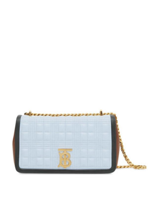 Burberry small Lola quilted crossbody bag - Brown
