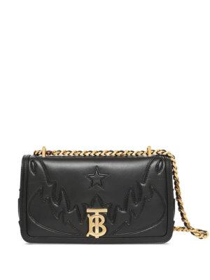 Burberry topstitch appliqué Lola bag - Black