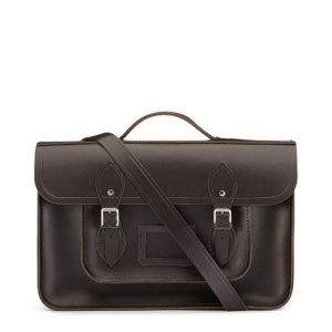 Cambridge Satchel 15 Inch Classic Batchel in Leather - Dark Brown