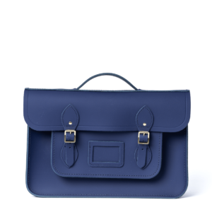 Cambridge Satchel 15 Inch Classic Batchel in Leather - Midnight Picnic Matte