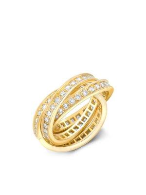 Cartier 1961 18kt yellow gold Present Day Trinity diamond ring
