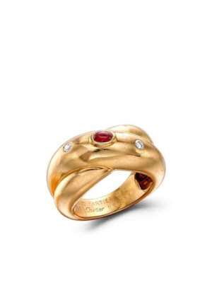 Cartier 1961 pre-owned 18kt yellow gold Gypsy three-stone ring