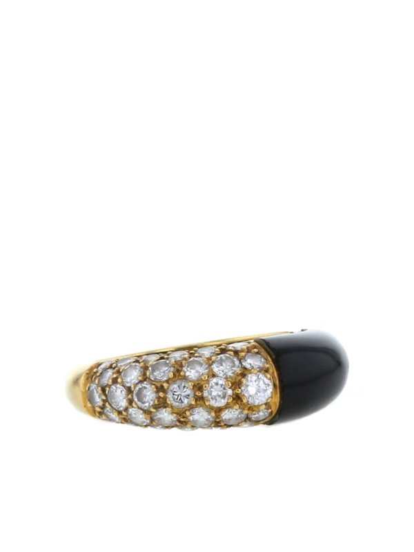 Cartier 1970s pre-owned yellow gold and diamond ring - GOLD,BLACK,WHITE