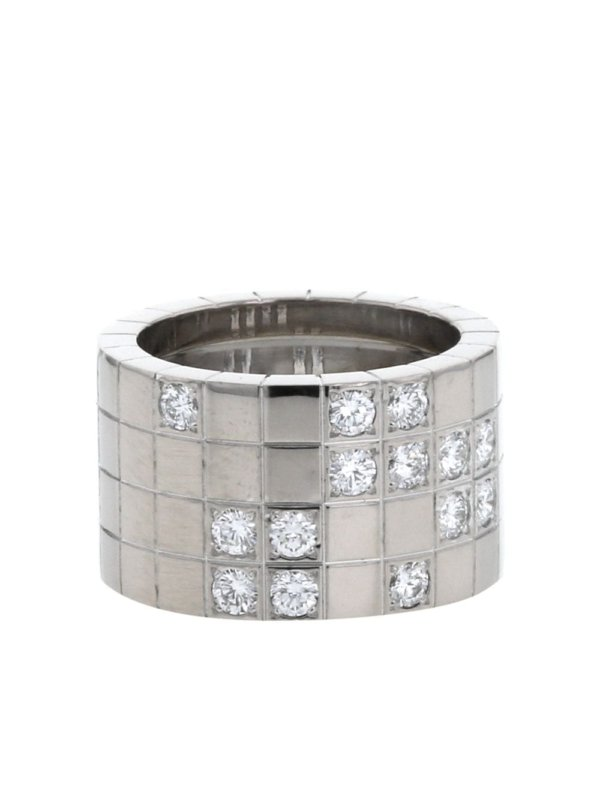 Cartier 2010s pre-owned 18kt white gold and diamond Lanière ring