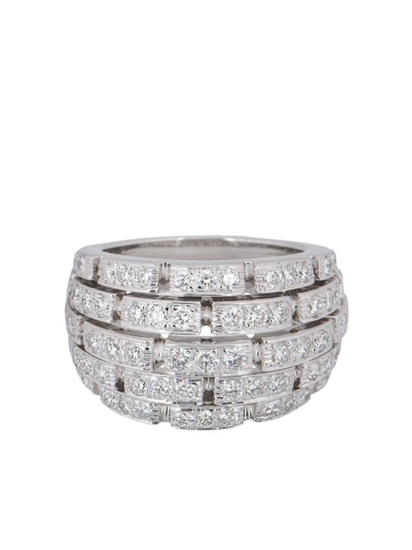 Cartier pre-owned 18kt white gold diamond Panthère ring