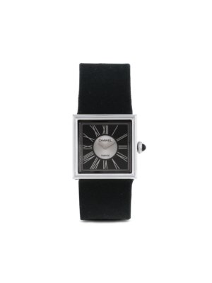 Chanel Pre-Owned 1990 pre-owned Mademoiselle 23mm - Black
