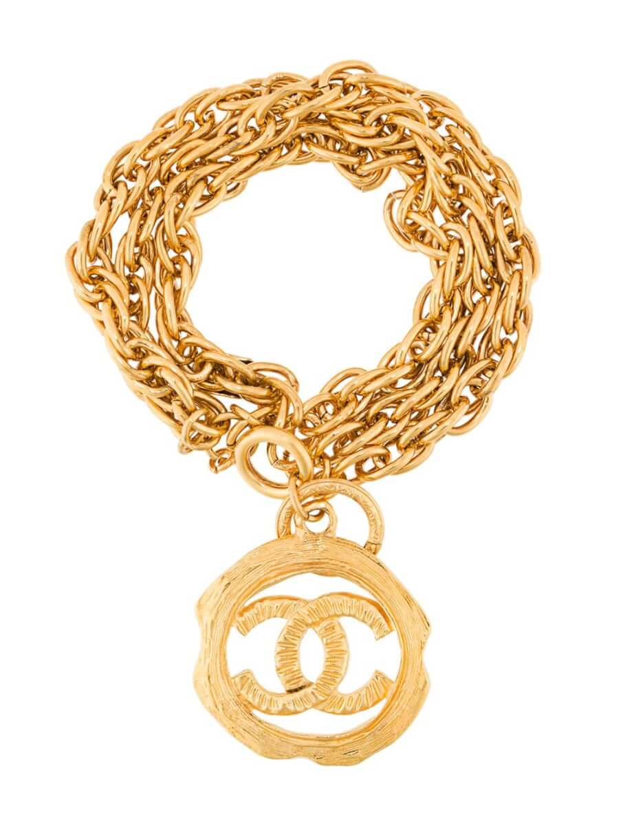 Chanel Pre-Owned CC charm chain bracelet - Metallic