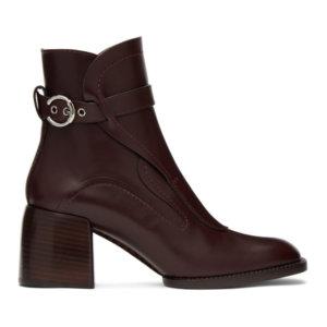 Chloe Burgundy Gaile Boots