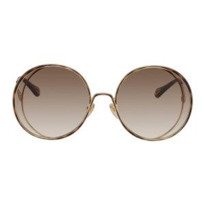 Chloe Gold Hannah Round Sunglasses