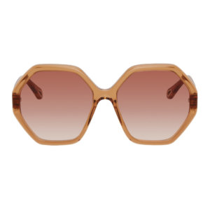 Chloe Orange Esther Hexagonal Sunglasses