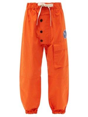 Eye/loewe/nature - Drawstring-waist Cotton Cargo Trousers - Mens - Orange
