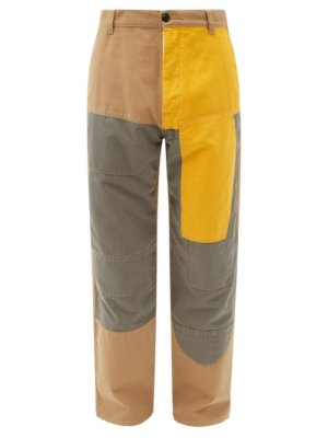 Eye/loewe/nature - Patchwork Cotton Trousers - Mens - Beige
