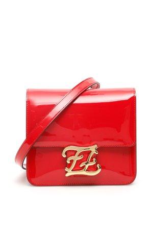 FENDI FF KARLIGRAPHY BAG OS Red Leather